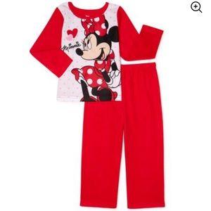 NEW Disney Jr MInnie Mouse 2pc Pajama Set